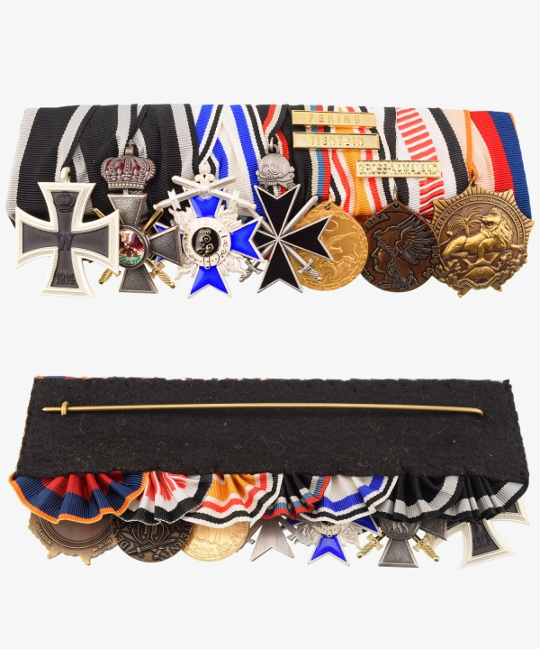 Ordensspange, Free Corps, Awaloff Cross, Red Eagle, China, Southwest Africa, Order of the Lion