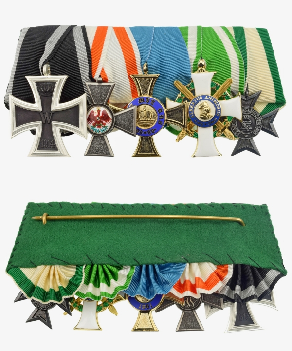 Ordensspange Red Eagle Order, Crown Order, Albrecht Order Knight's Cross, Iron Cross