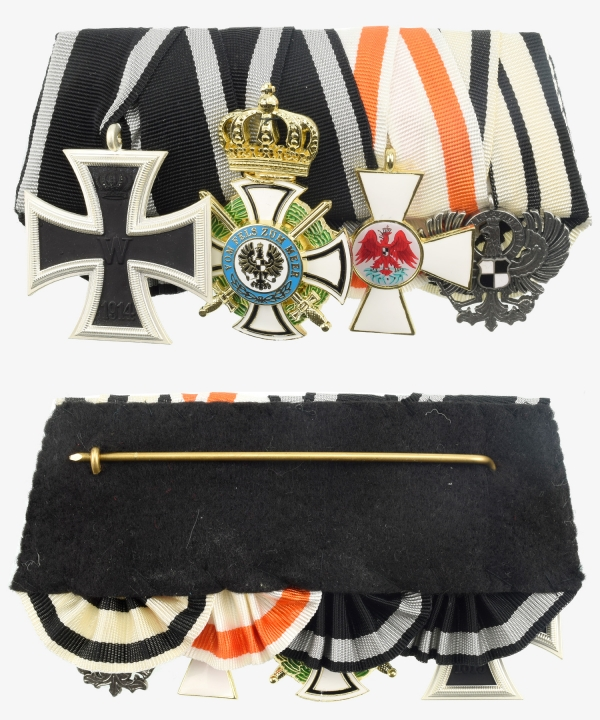 Ordensspange Iron Cross, House Order Hohenzollern, Red Eagle Order, Eagle the owner
