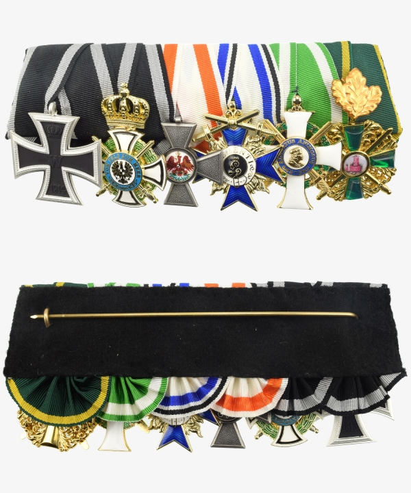 Iron Cross Order Cross 1914, Hohenzollern House Order, Order of the Red Eagle, Military Order 3rd Class, Albrecht Order 1st Class, Zähringer Löwe
