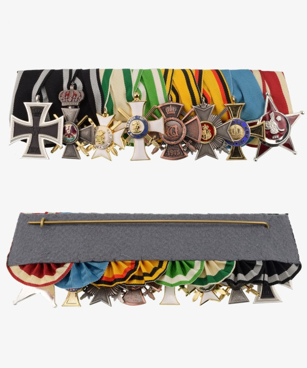 Order Ribbon Red Eagle Order 4th Class, Wilhelm Cross, Reuss Cross of Merit, Gallipoli Star