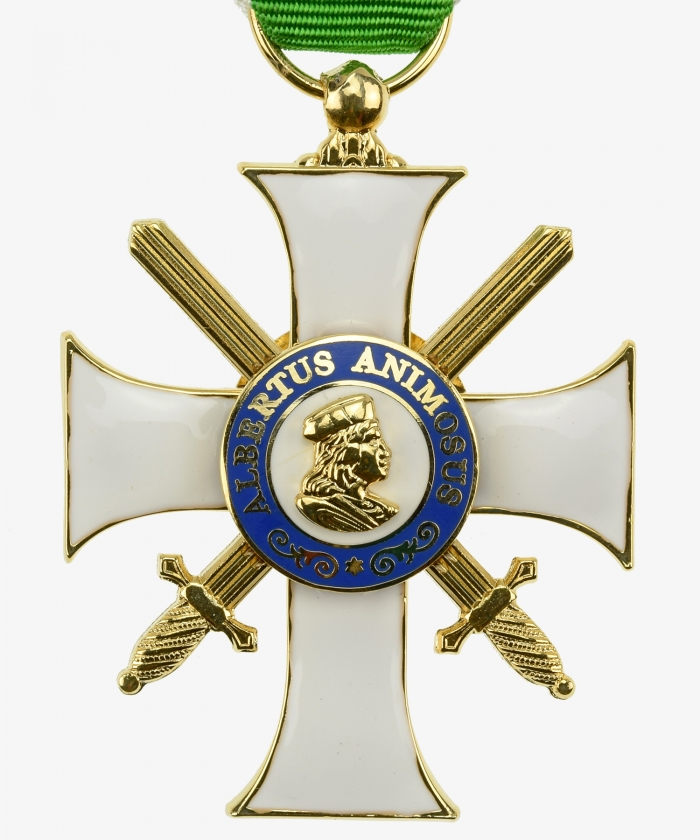 Sachsen Albrechtsorden Knight's Cross 2nd class with swords