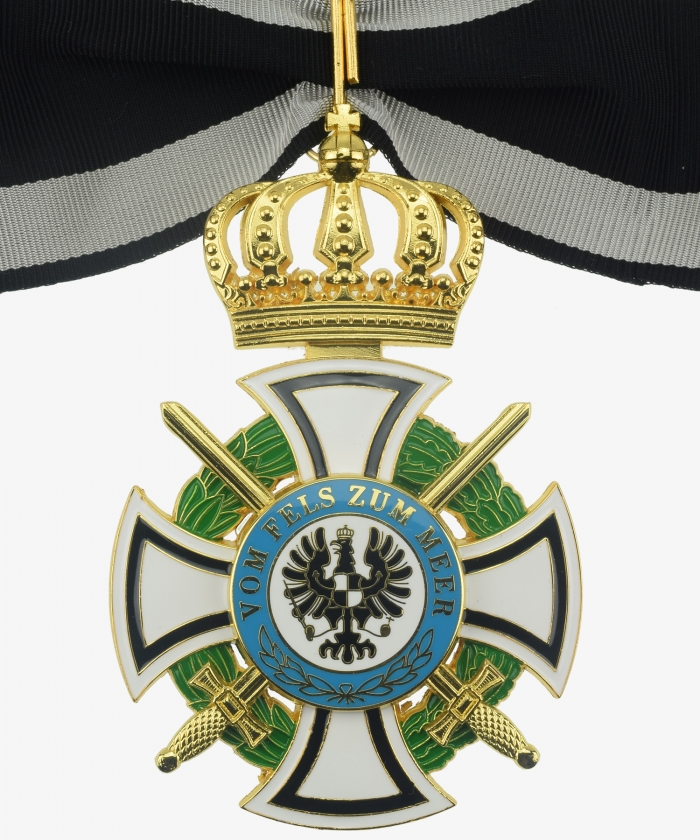 Prussia Royal House Order of Hohenzollern Cross of the Commandery with swords