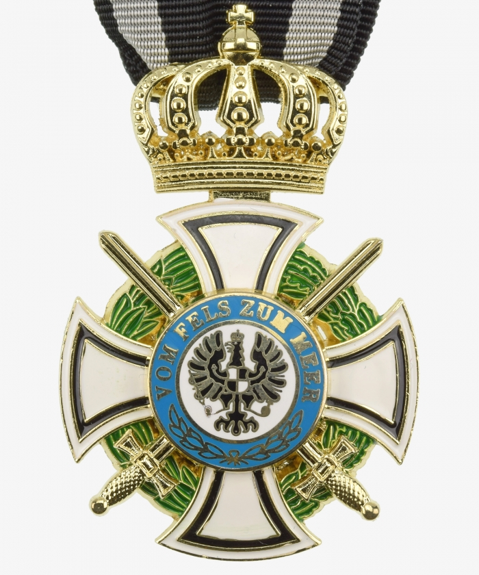 Prussia Royal House Order of Hohenzollern Cross of knights with swords