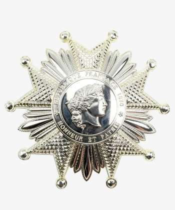 Breast Star National Order of the Legion of Honor France in silver
